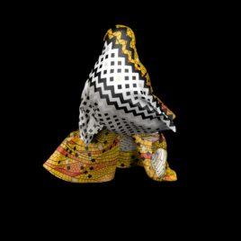 Textil Metamorfosis: Alas amarillas y zig zag
